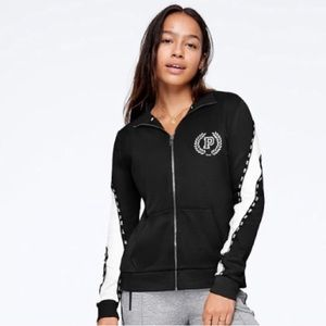 VS PINK MOCK NECK TRACK JACKET XS